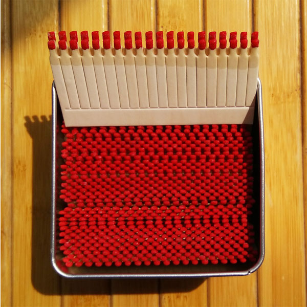 Comb Matches in Tin Boxes