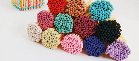Colorful Tips/Heads Matches