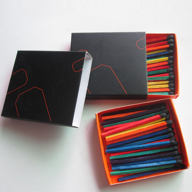Colorful Sticks Match Box Dyed In Different Colors