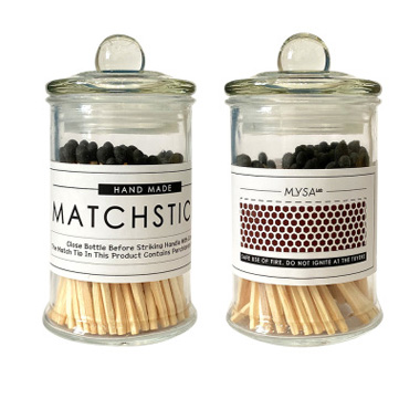 Hand Made Safety Matches Jar Wholesale Bulk