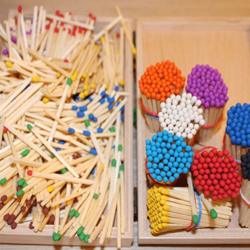 3 Inches Bulk Coloured Match Sticks