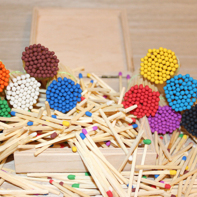 Bulk Matchsticks with Coloured and White Tips
